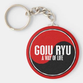 Yin Yang GOJU RYU 1 Basic Round Button Keychain