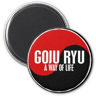 Yin Yang GOJU RYU 1 Imán Redondo 5 Cm