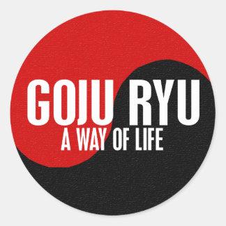 Yin Yang GOJU RYU 1 Pegatina Redonda