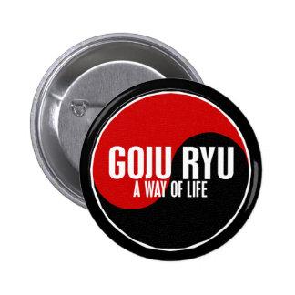 Yin Yang GOJU RYU 1 Pin Redondo De 2 Pulgadas