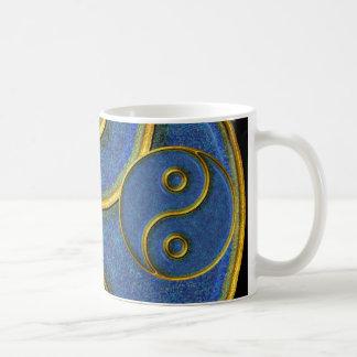 Yin-Yang, Gold and Blue mosaic /Mug 11oz Coffee Mug