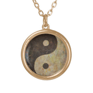 Yin Yang Gold Plated Necklace