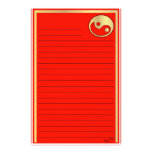 Yin Yang  Gold Red Chinese New Year Personalized Stationery