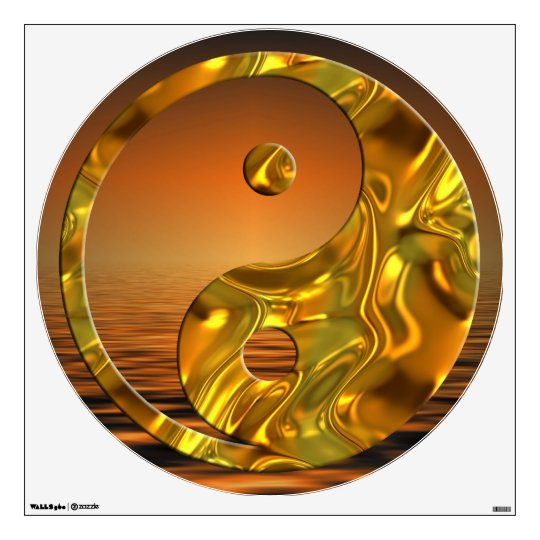 Yin & Yang - gold Sunset Wall Sticker