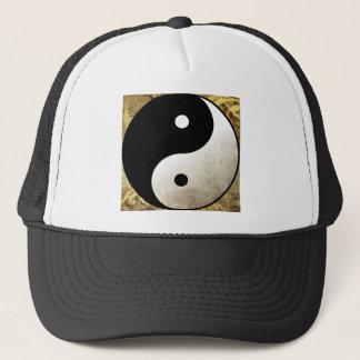 Yin Yang Gold Trucker Hat