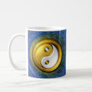 Yin-Yang, Golden Ring and Blue mosaic /Mug 11oz Coffee Mug
