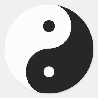 Yin Yang grande Pegatina Redonda