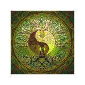 Yin Yang Green Canvas Print (<em>$88.50</em>)