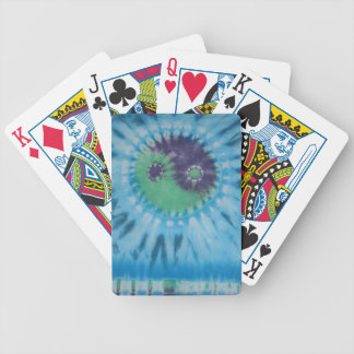 Yin Yang Green Purple Blue Tie Dye Bicycle Playing Bicycle Playing Cards