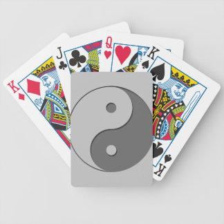 Yin Yang - grey 1 Bicycle Playing Cards