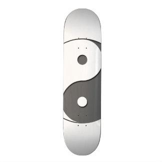 Yin Yang - grey 1 Skateboard Deck