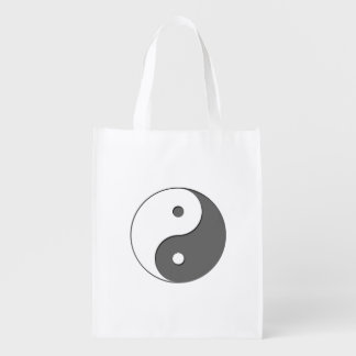 Yin Yang - gris 1 Bolsas Reutilizables