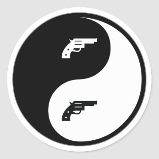 Yin Yang Gun Stickers