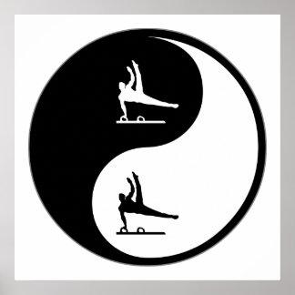 Yin Yang Gymnastics Poster