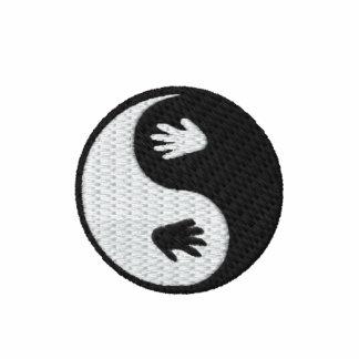 Yin Yang Hand Prints Embroidered Polo Shirt