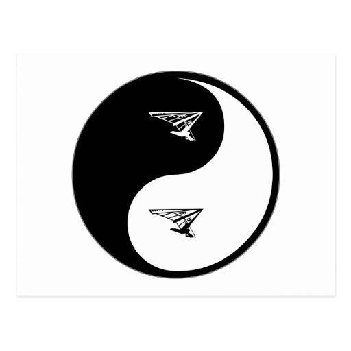 Yin Yang Hang Gliding Post Cards
