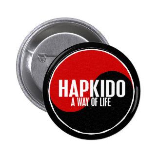 Yin Yang HAPKIDO 1 2 Inch Round Button
