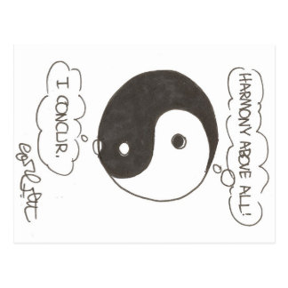 Yin & Yang: Harmony above all!  I concur! Postcard