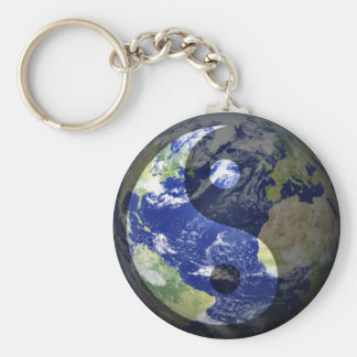 Yin-Yang Harmony on Our Planet Keychain