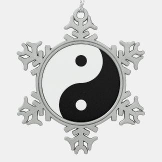 Yin Yang Harmony Snowflake Ornament