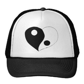 Yin Yang Heart (B/W) Trucker Hat