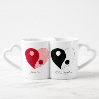 Yin Yang Heart (Mix) Coffee Mug Set