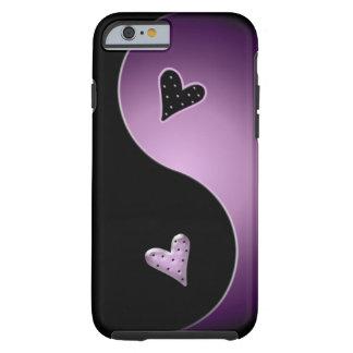 yin yang heart - purple tough iPhone 6 case