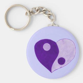 Yin Yang Heart (Purple/Lilac) Key Chain