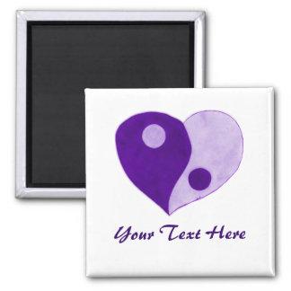 Yin Yang Heart (Purple/Lilac) Magnet