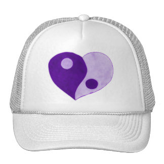 Yin Yang Heart (Purple/Lilac) Trucker Hat