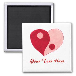 Yin Yang Heart (Red/Pink) Magnet