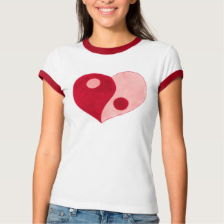 Yin Yang Heart (Red/Pink) T Shirt