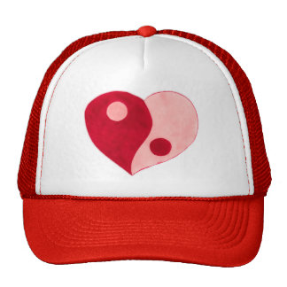 Yin Yang Heart (Red/Pink) Trucker Hat