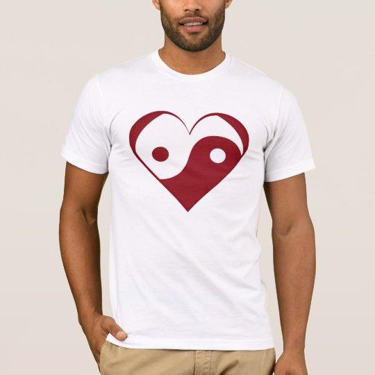 Yin Yang heart T-Shirt