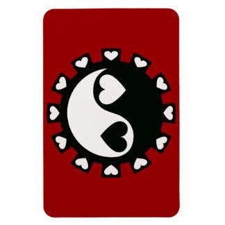 YIN YANG HEARTS BLACK & WHITE Magnet