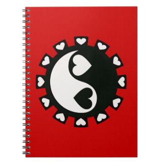 YIN YANG HEARTS BLACK & WHITE NOTEBOOK