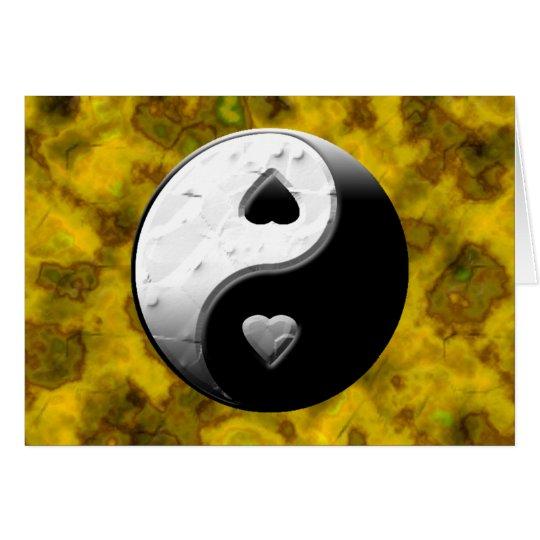 Yin Yang Hearts Card