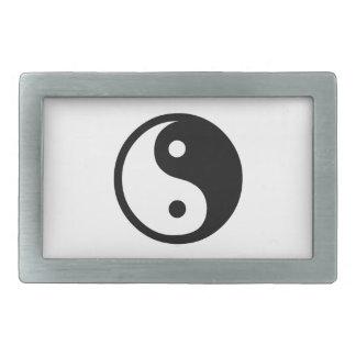 Yin Yang Hebilla Cinturón Rectangular