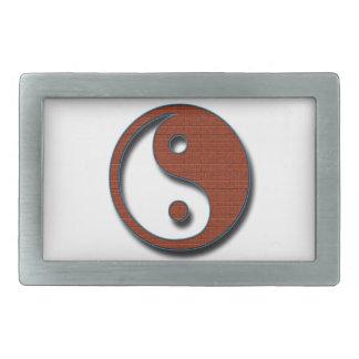 Yin Yang Hebilla De Cinturon Rectangular