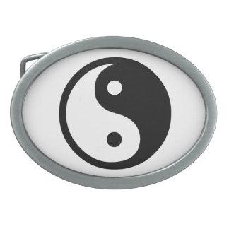 Yin Yang Hebilla Cinturon Oval