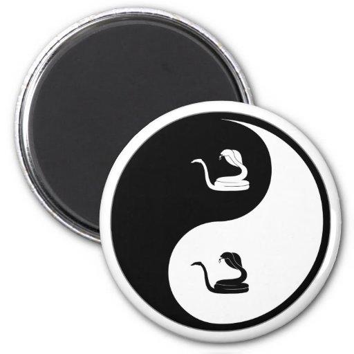 Yin Yang Herpetology Fridge Magnets
