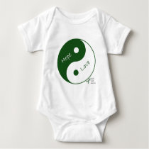 Yin Yang Hope Love Mental Health Awareness Baby Bodysuit