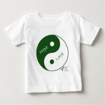 Yin Yang Hope Love Mental Health Awareness Baby T-Shirt
