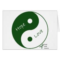 Yin Yang Hope Love Mental Health Awareness Card