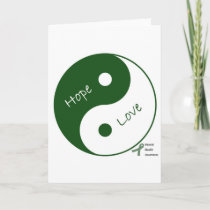 Yin Yang Hope Love Mental Health Awareness Card