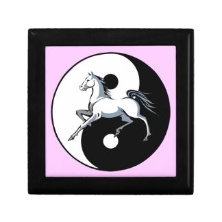 Yin Yang Horse Jewelry Box