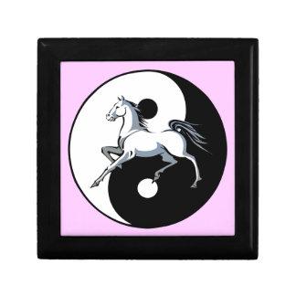 Yin Yang Horse Jewelry Box