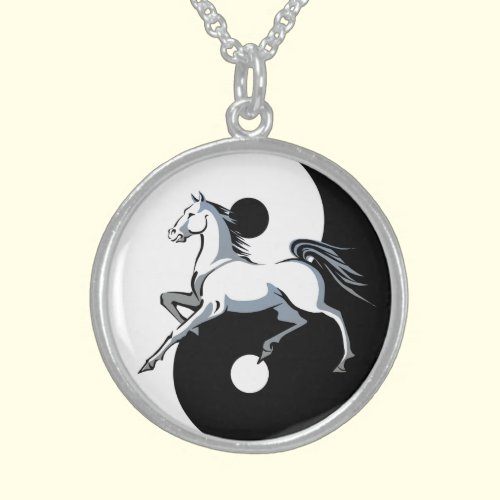 Yin Yang Horse Necklace