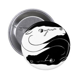 Yin Yang Horse Pin