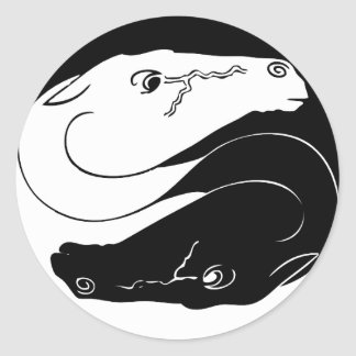 Yin Yang Horse Sticker